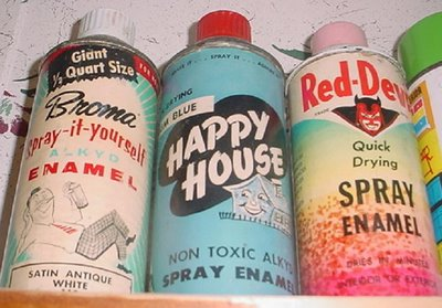 out some flicks of some very old vintage spray paint cans check out. Black Bedroom Furniture Sets. Home Design Ideas
