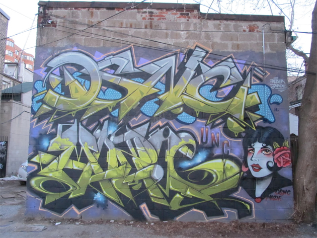 Here s a new wall from the toronto graffiti writers dsnc and mozie