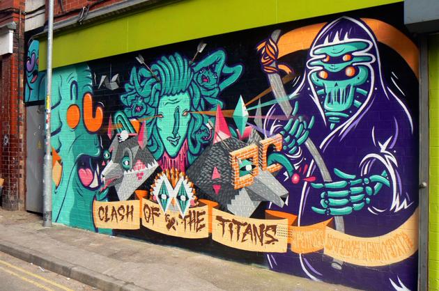 dxtr graffiti wall