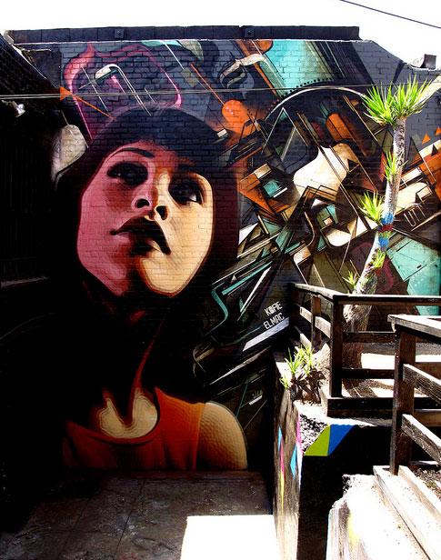 el mac and kofie graffiti mural in LA