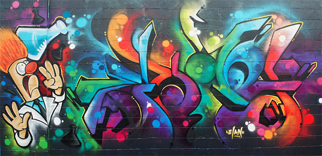elan graffiti wall