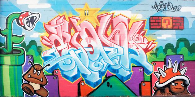 elan mario brothers graffiti