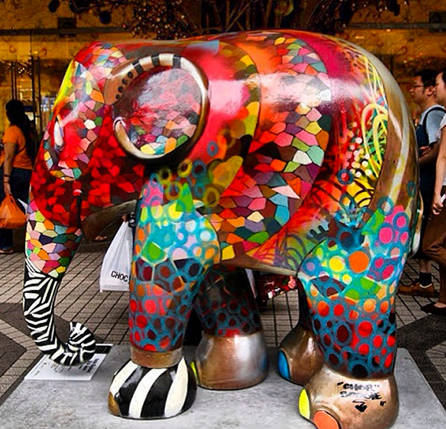 elephant statue by chor boogie