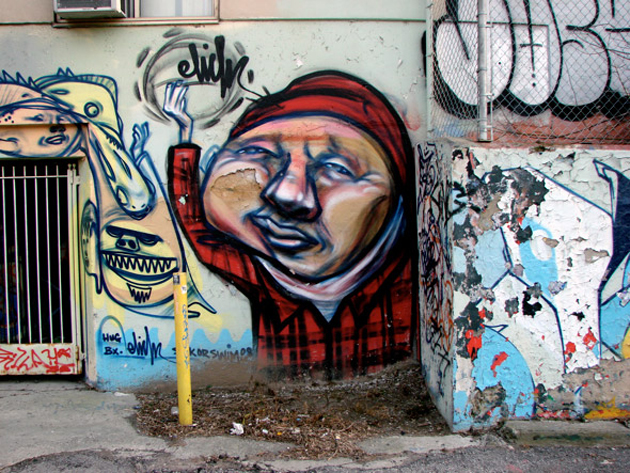 elicser toronto graffiti character
