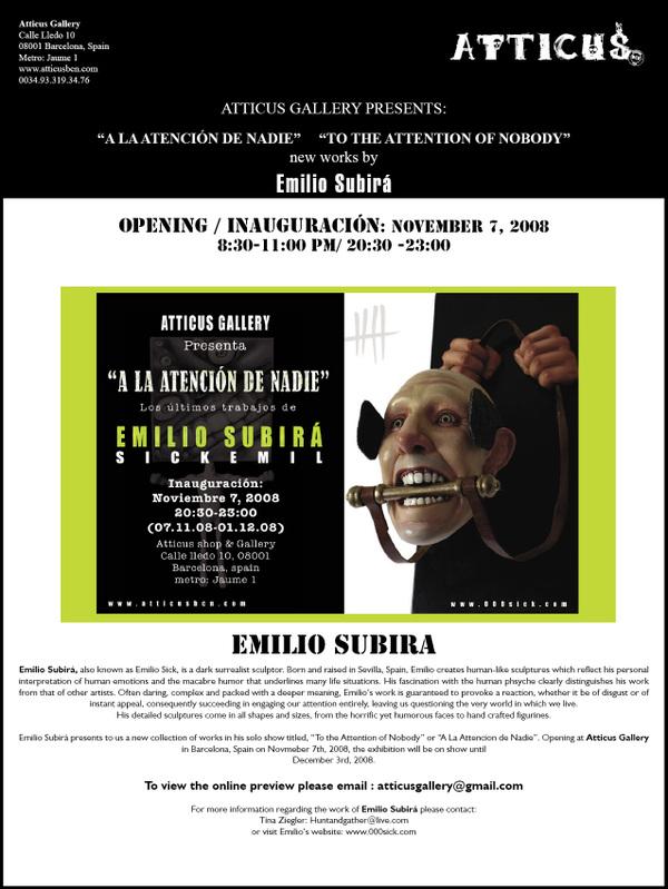 Emilio Subira Solo Show