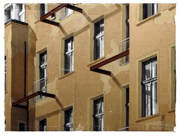 evol building windows cardboard
