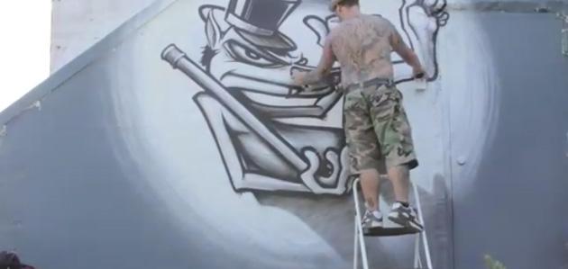 ewok graffiti character