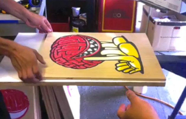 ewok wood block prints