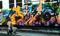 Ewok Graffiti at Tuff City Styles Tattoo Shop