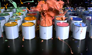 Sony Exploding Paint