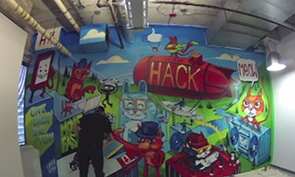 Uber Graffiti in Facebook Offices