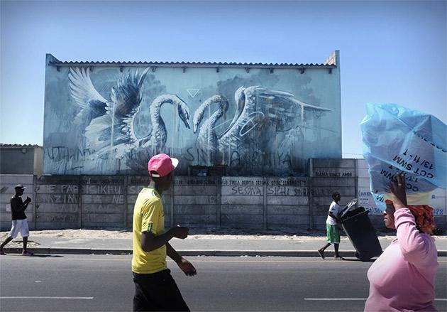 faith47 south africa graffiti mural