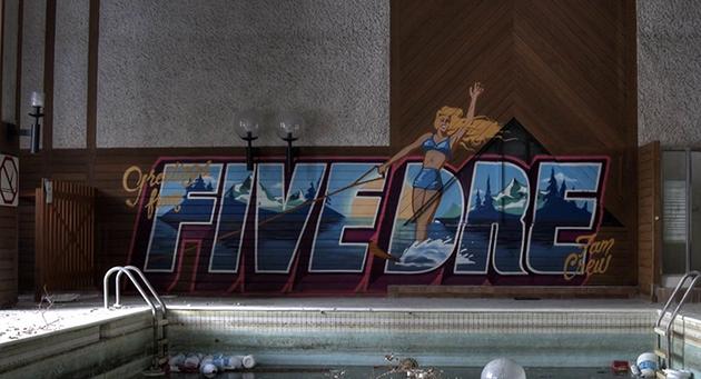 fam crew pool graffiti