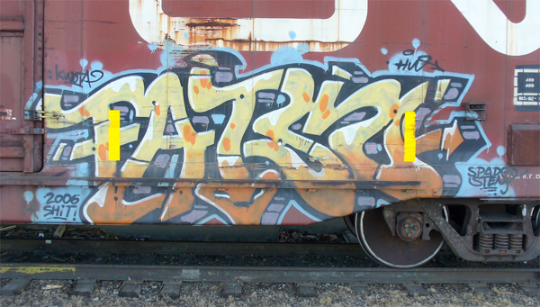 fatso graffiti freight train