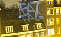 F.A.T Projecting Tags on Building With An iPhone
