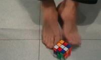 Rubik's Cube with feet