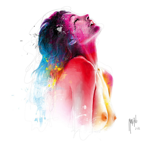 female painting by patrice murciano