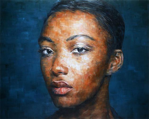 female portrait oil painting