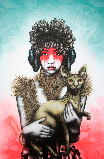fin dac female and cat