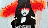 Urban Female Paintings by Fin Dac