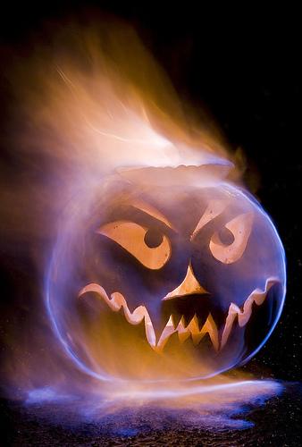Flaming Pumpkin Head