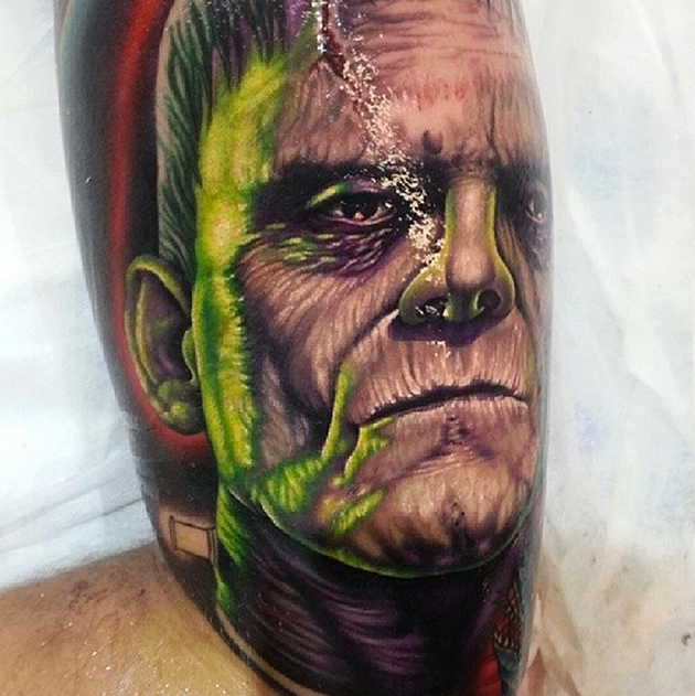 frankenstein tattoo by bumer