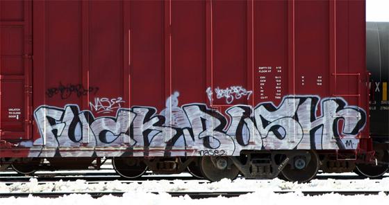 Fuck Bush Graffiti Freight