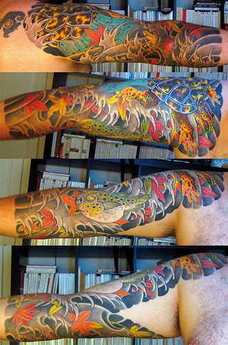 For this week's Tattoo Tuesday, we've featured a Japanese half sleeve.