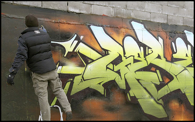 geser graffiti action