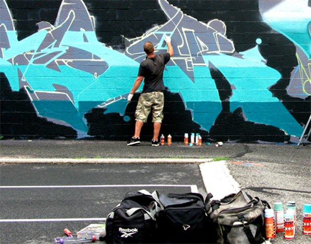 geser graffiti action shot