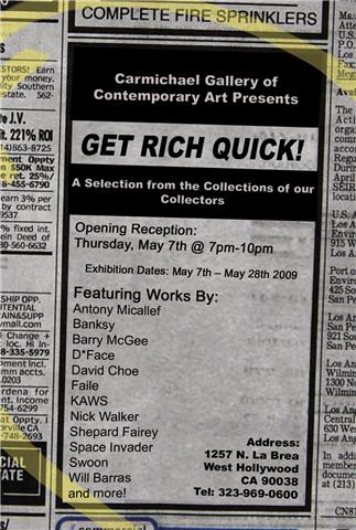 Get Rich Quick Art Show