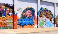 Girl Graffiti Writers Wall