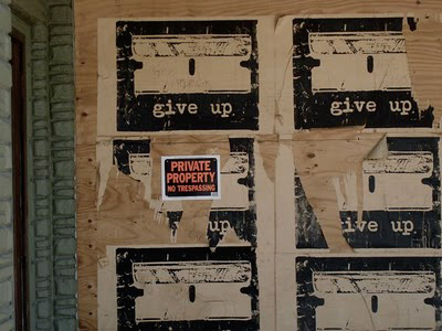 give up graffiti