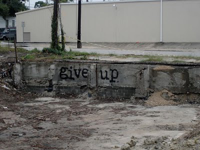 give up graffiti stencil
