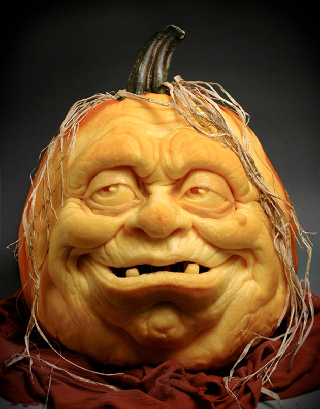 Impressive pumpkin carving by ray villafane senses lost