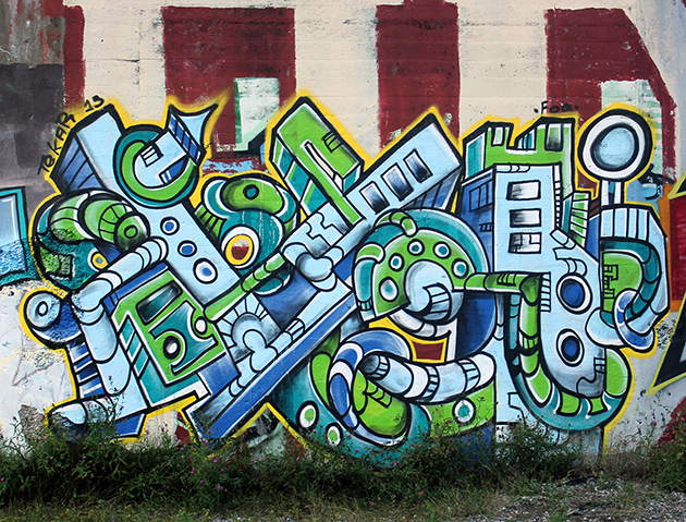 graffiti by tek
