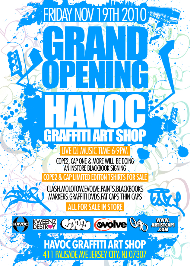 graffiti open havoc graffiti shop