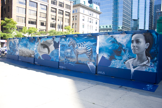 graffiti paintings at tiff 2012