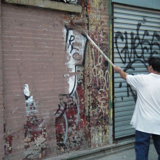 Graffiti Being Buffed