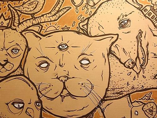 grammatika graffiti canvas characters russia