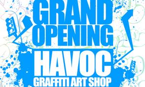 Grand Opening of Havoc Graffiti Art Shop