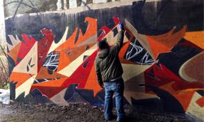 Halloween Graffiti Wall