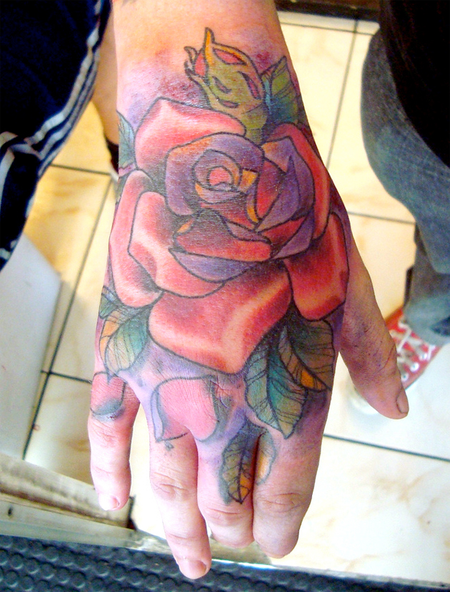 Pin Hand Tattoos Rose Tattoo Depth Sounding on Pinterest