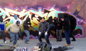 Graffiti Painting Harlem Shake in Brooklyn