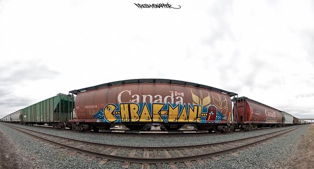 hbak pac-man graffiti freight
