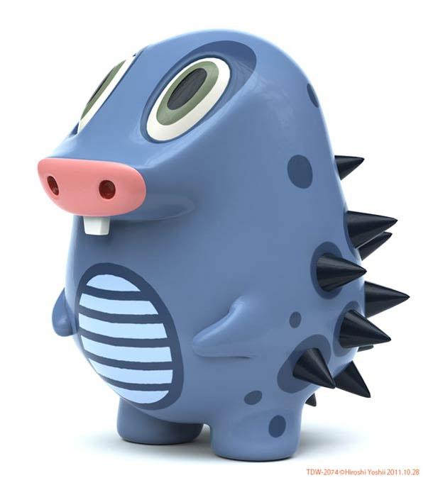 hiroshi yoshii concept design purple monster toy