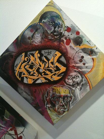 horus elicsr graffiti canvas