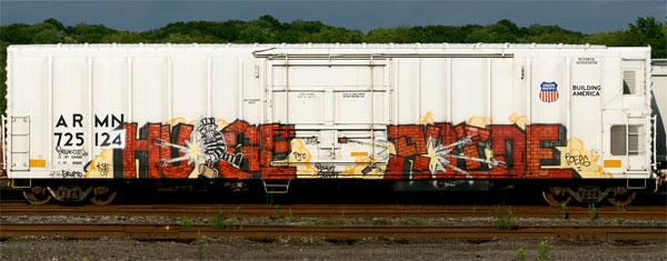 Huge Abide Freight Graffiti Reefer