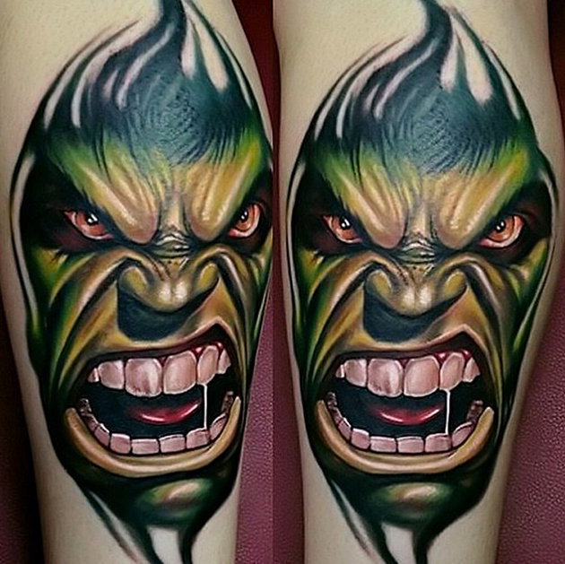 hulk tattoo by kirt silver