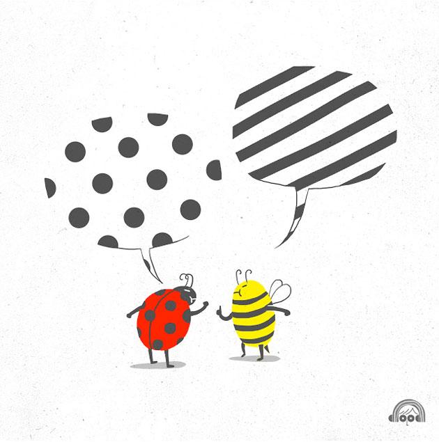 i love doodle bee vs lady bug